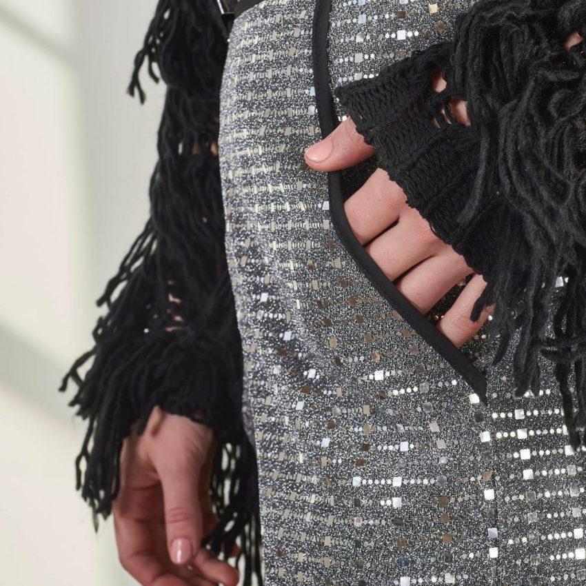 Black Tasseled Sweater-5067
