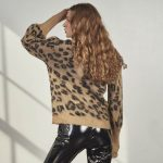 Leopard Knitted Sweater-4797