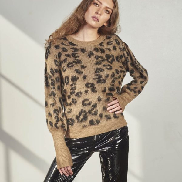 Leopard Knitted Sweater-4798