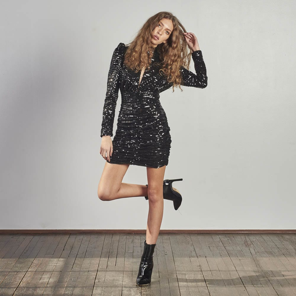 Moment To Shine Sequin Dress -0