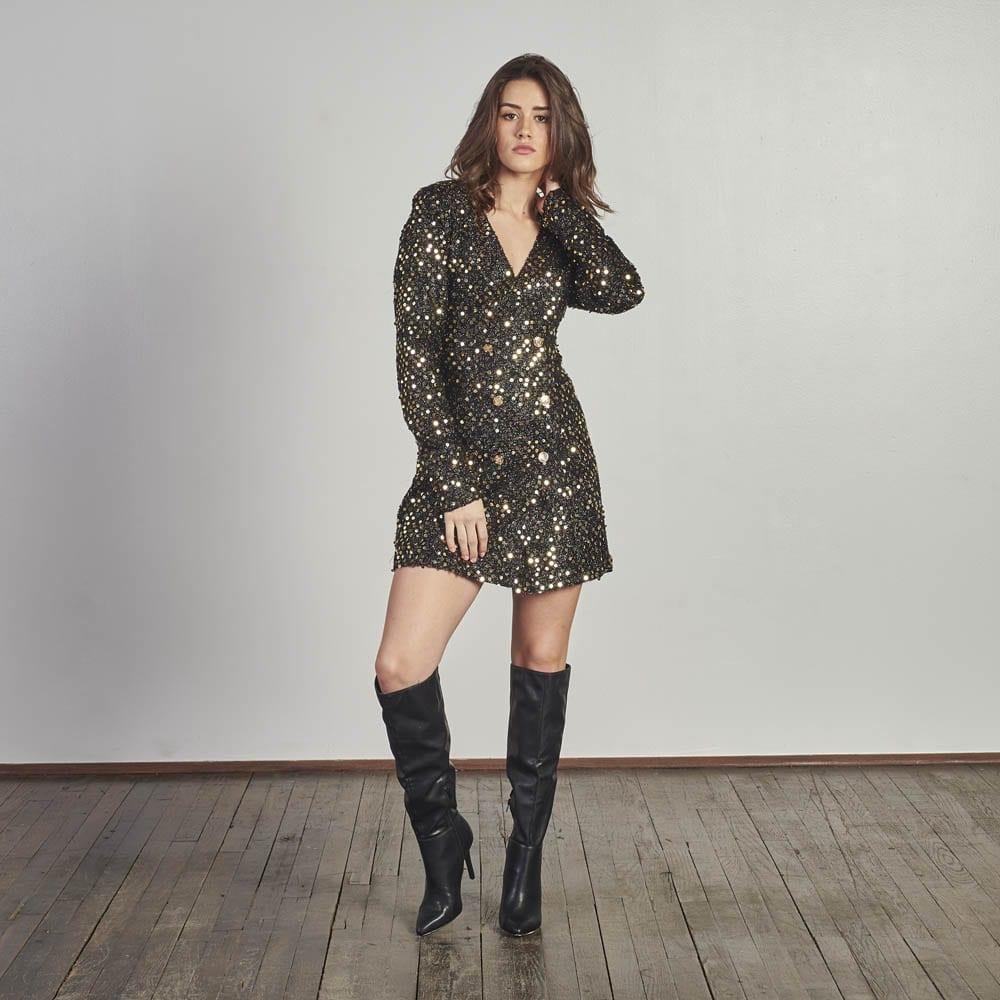 Sequin Blazer Dress -0