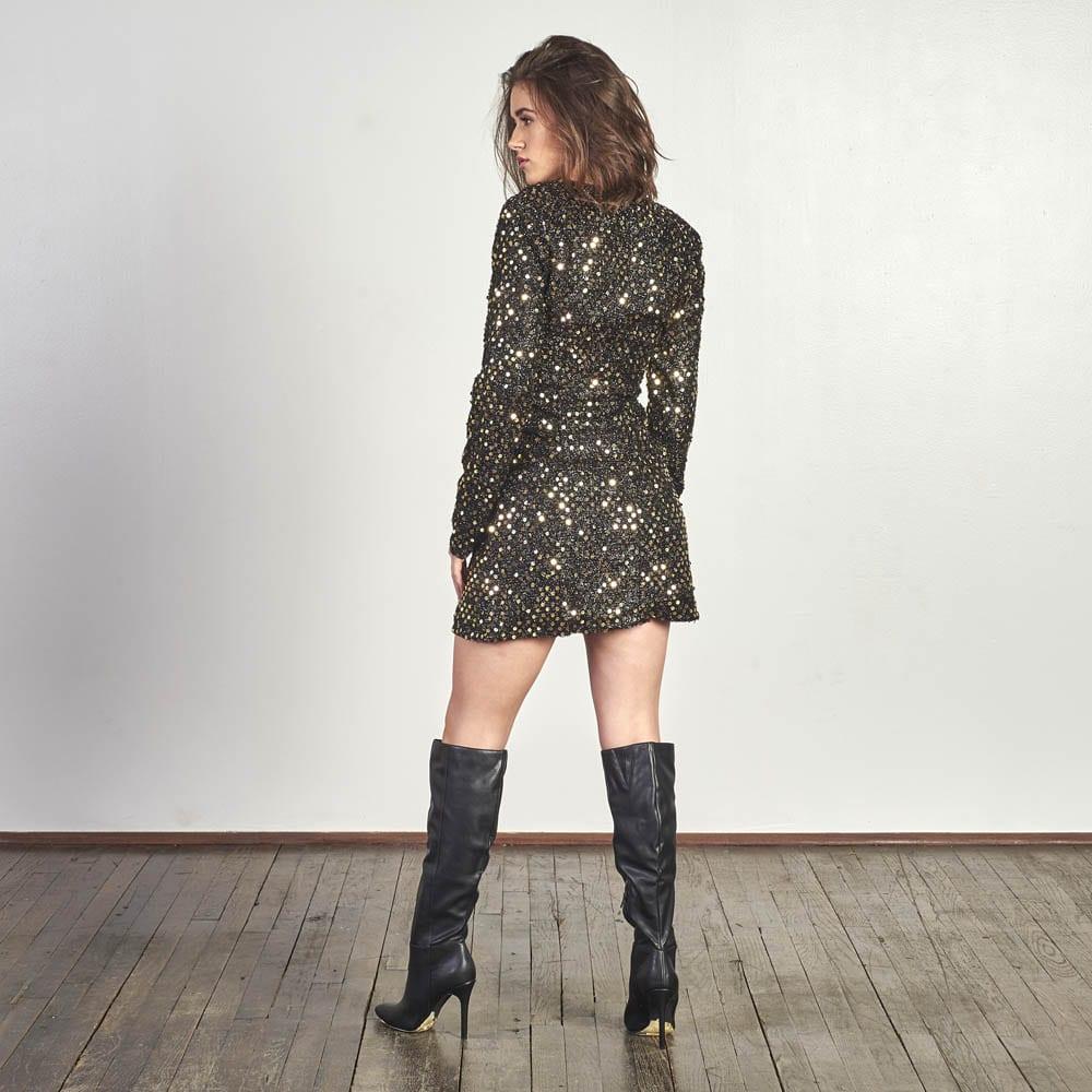 Sequin Blazer Dress -5029