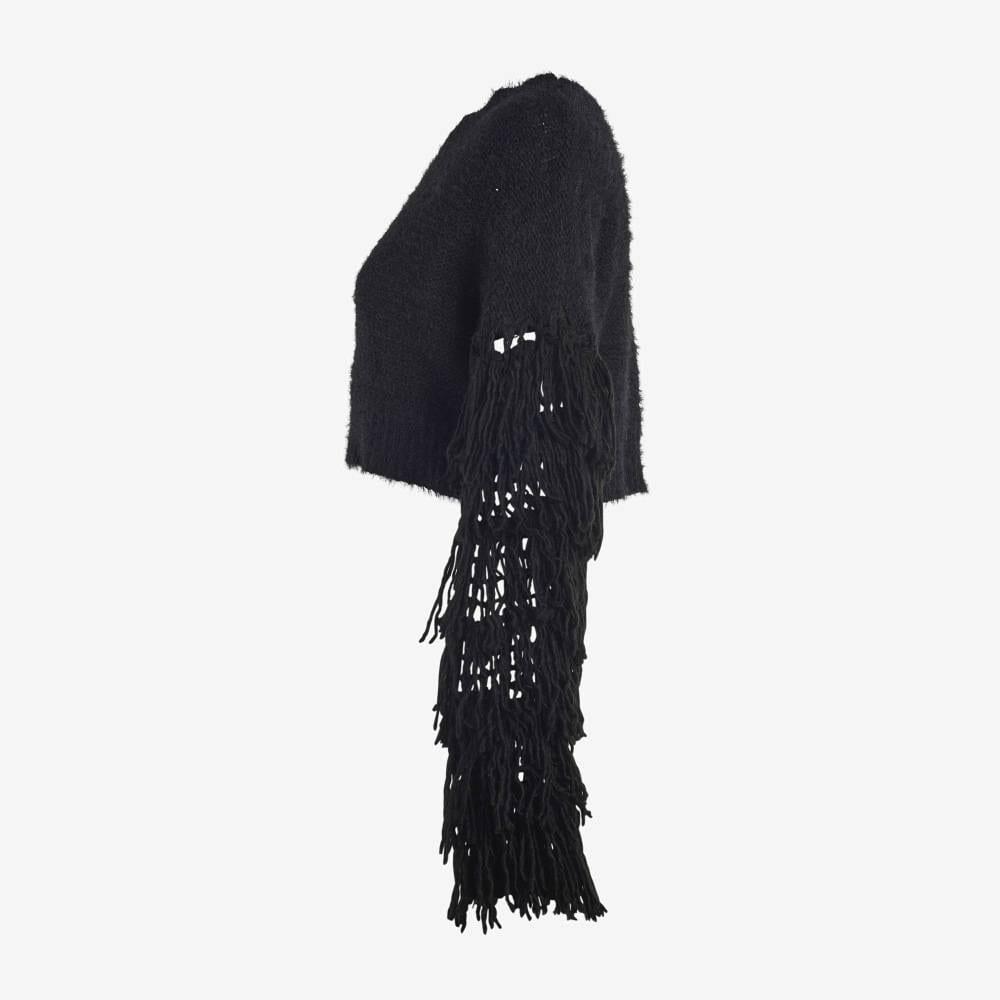 Black Tasseled Sweater-5070