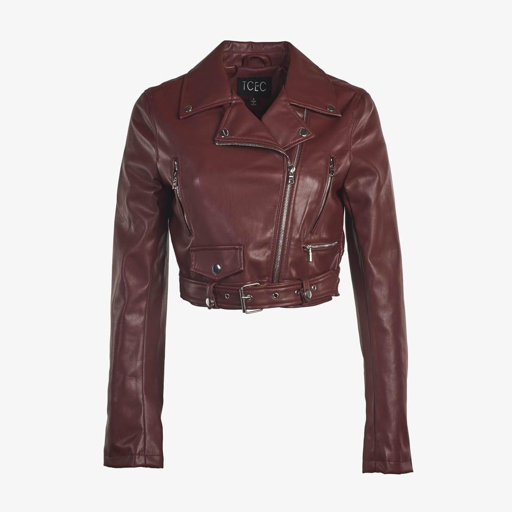 Faux Leather Moto Jacket-5181