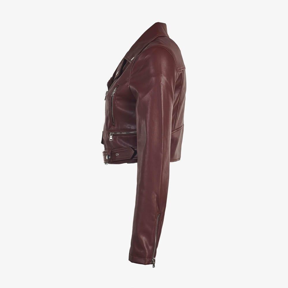 Faux Leather Moto Jacket-5182