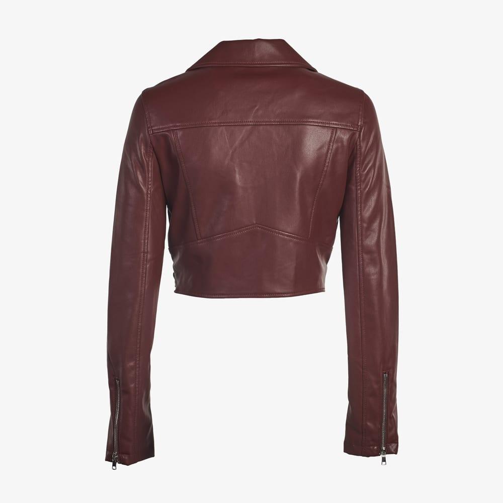 Faux Leather Moto Jacket-5183