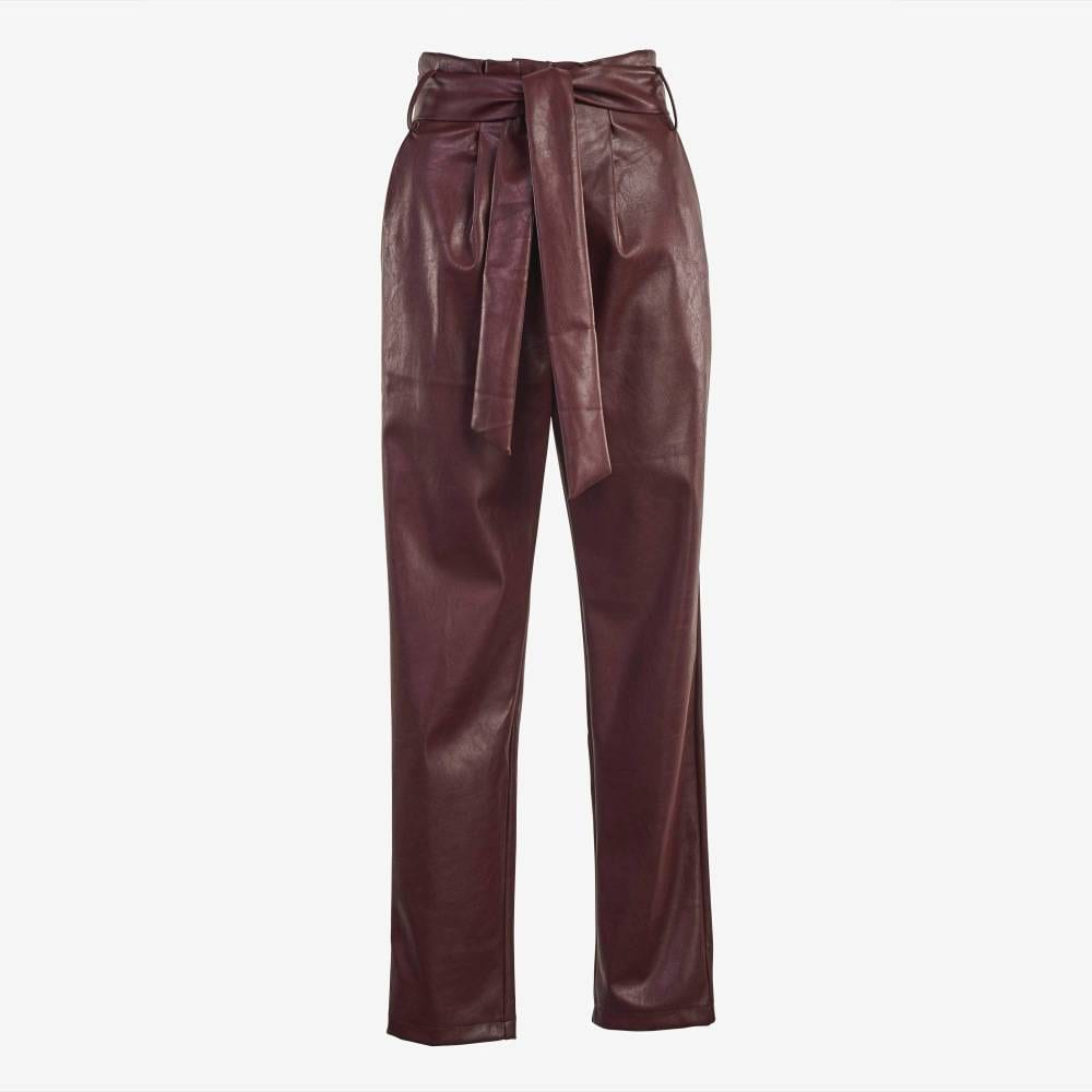 Wine Knitted Trousers-4922