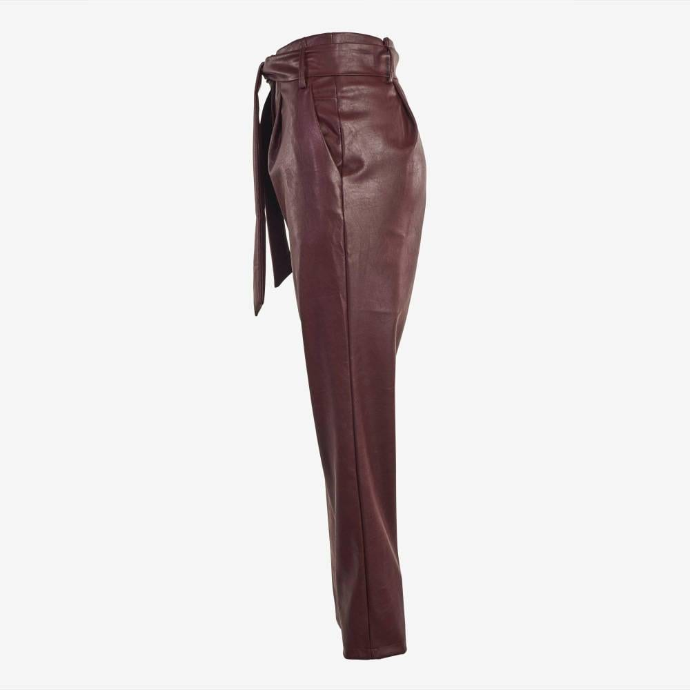 Wine Knitted Trousers-4923