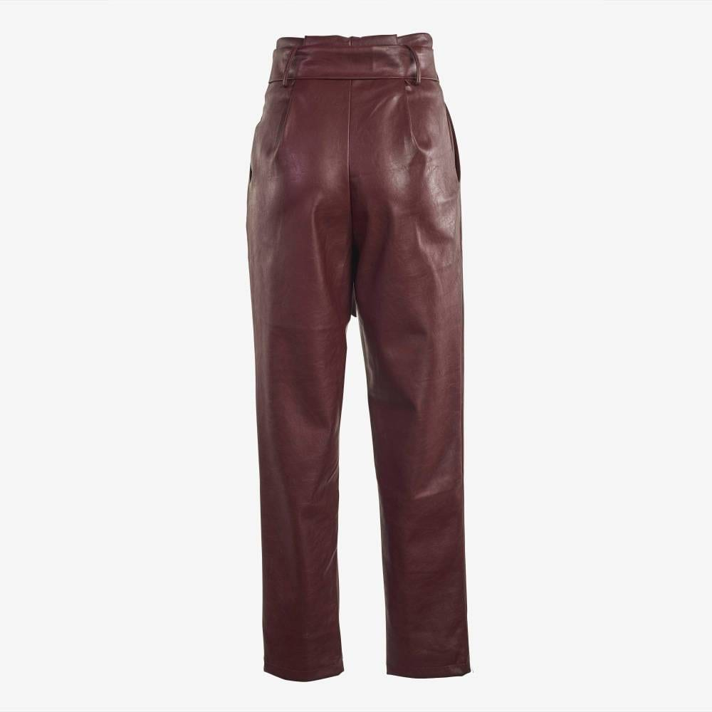 Wine Knitted Trousers-4924