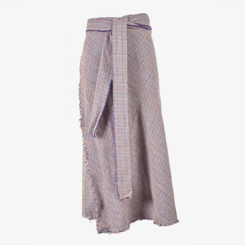 Boucle Wrap Skirt-5156