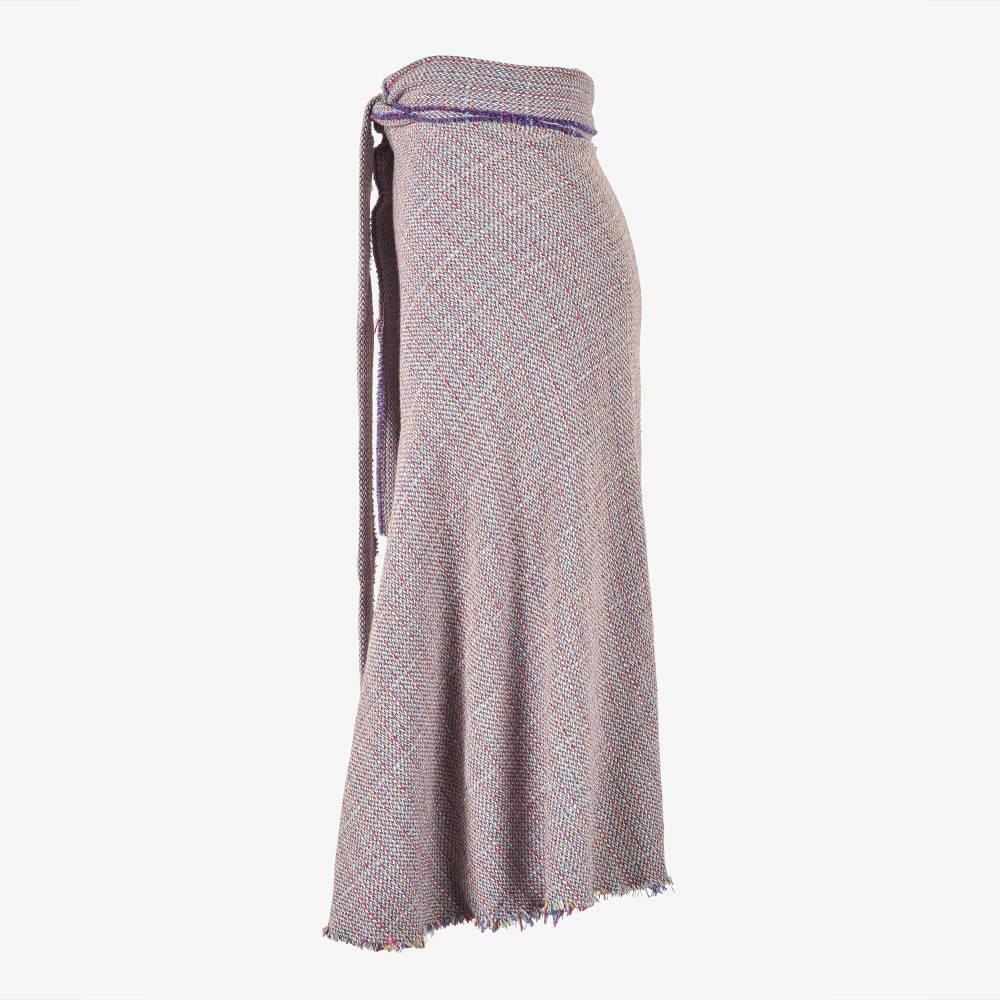 Boucle Wrap Skirt-5157