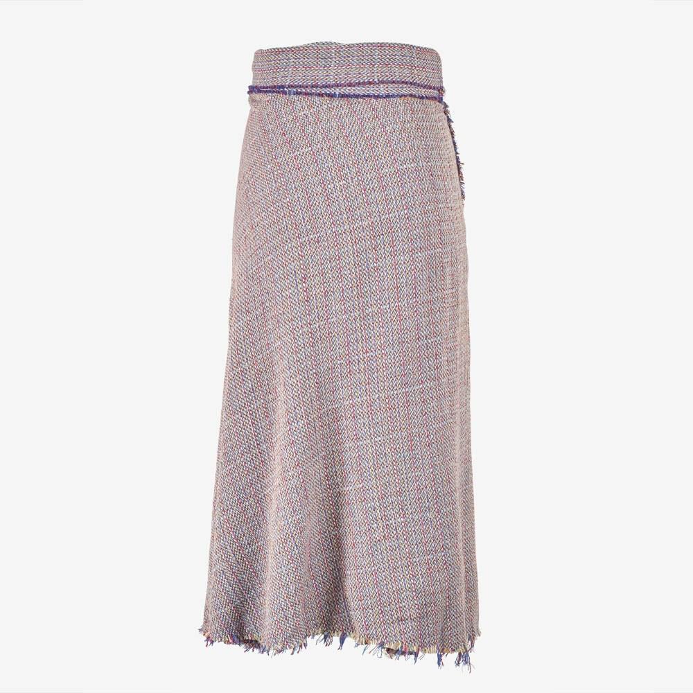 Boucle Wrap Skirt-5158