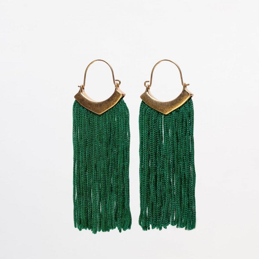 Emerald Fringe Earring-0