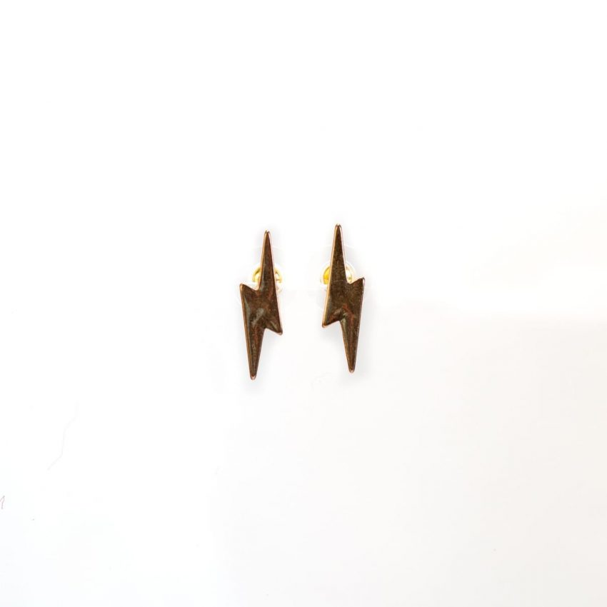 Lighting Bolt Stud Earring-0
