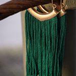 Emerald Fringe Earring-4989