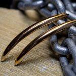 Gold Pike Earring-4984