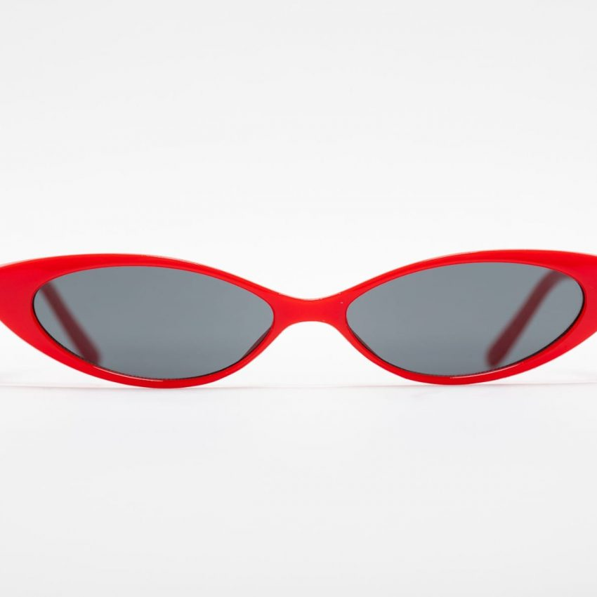 Retro Red Tiny Cat Eye Sunnie-0