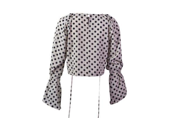 Dottie Dot Bell Sleeve Blouse -5238