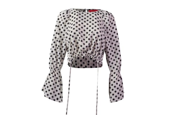 Dottie Dot Bell Sleeve Blouse -5237