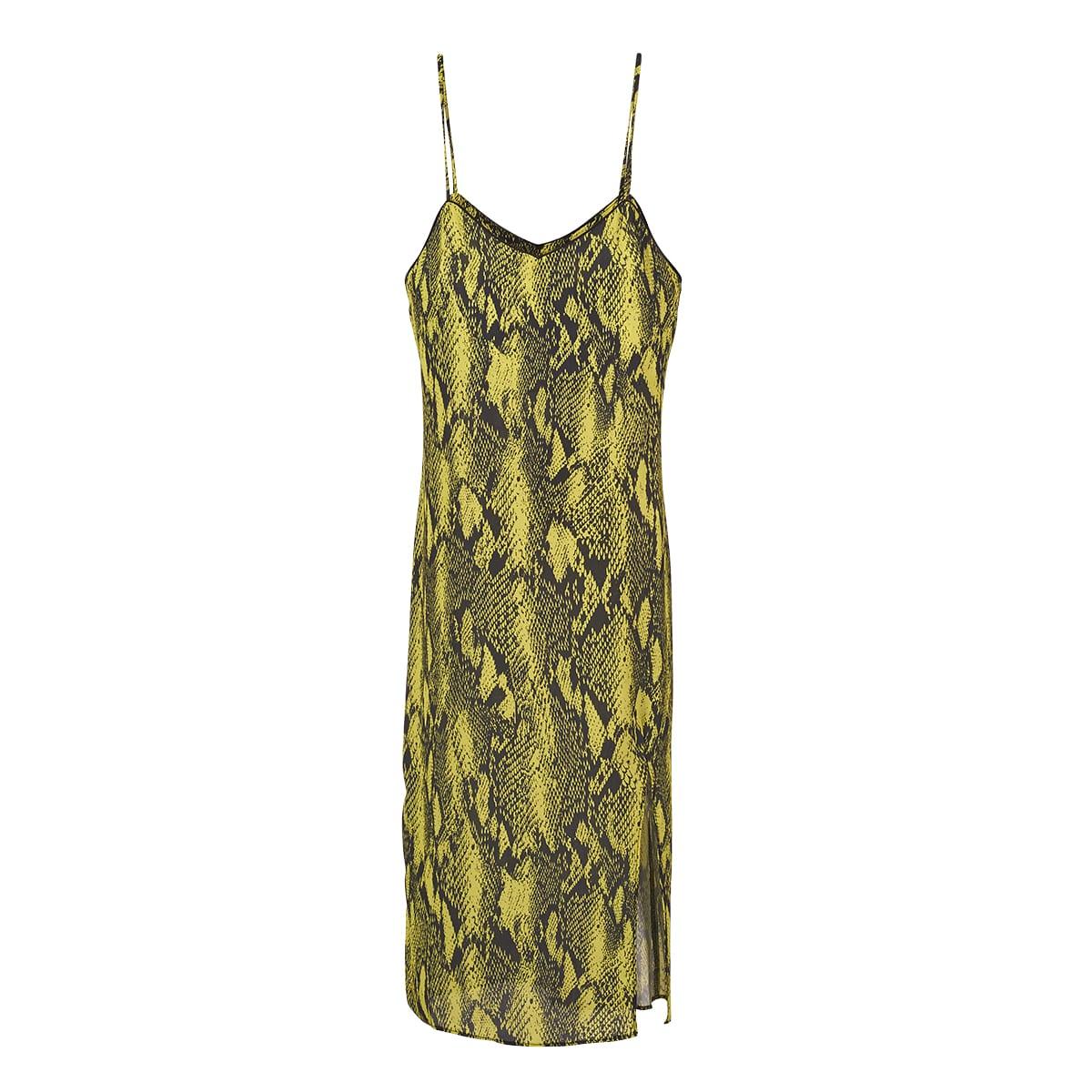 Neon Lime Slip dress-5252