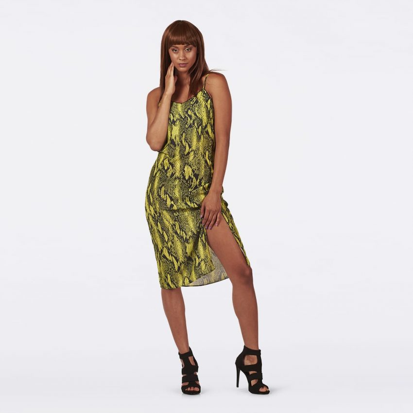 Neon Lime Slip dress-0