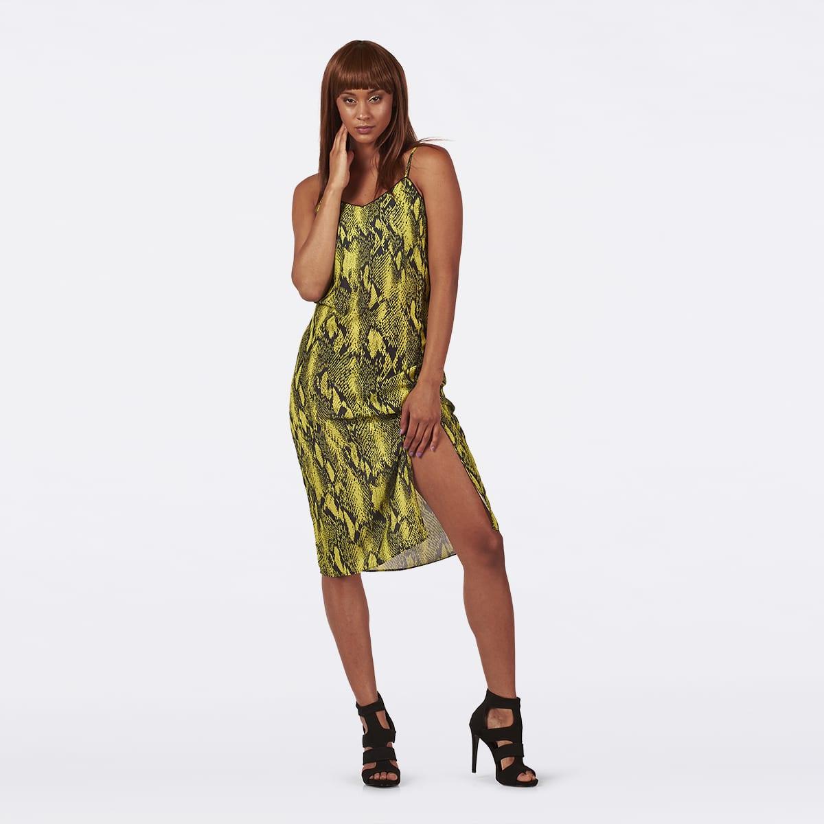 Neon Lime Slip dress-0