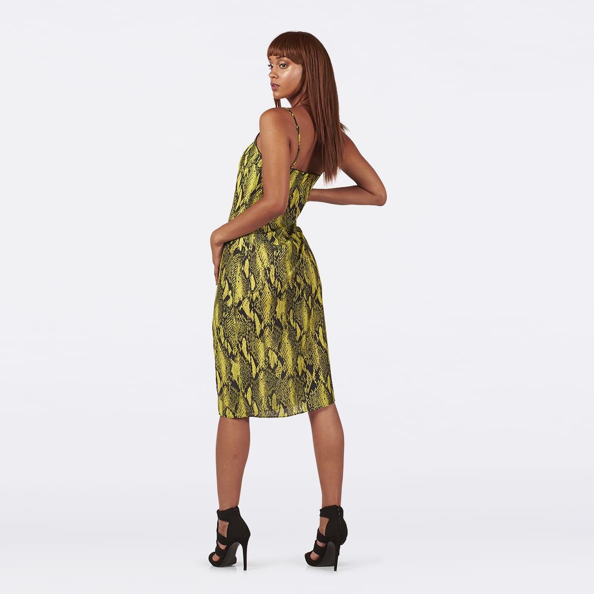 Neon Lime Slip dress-5251